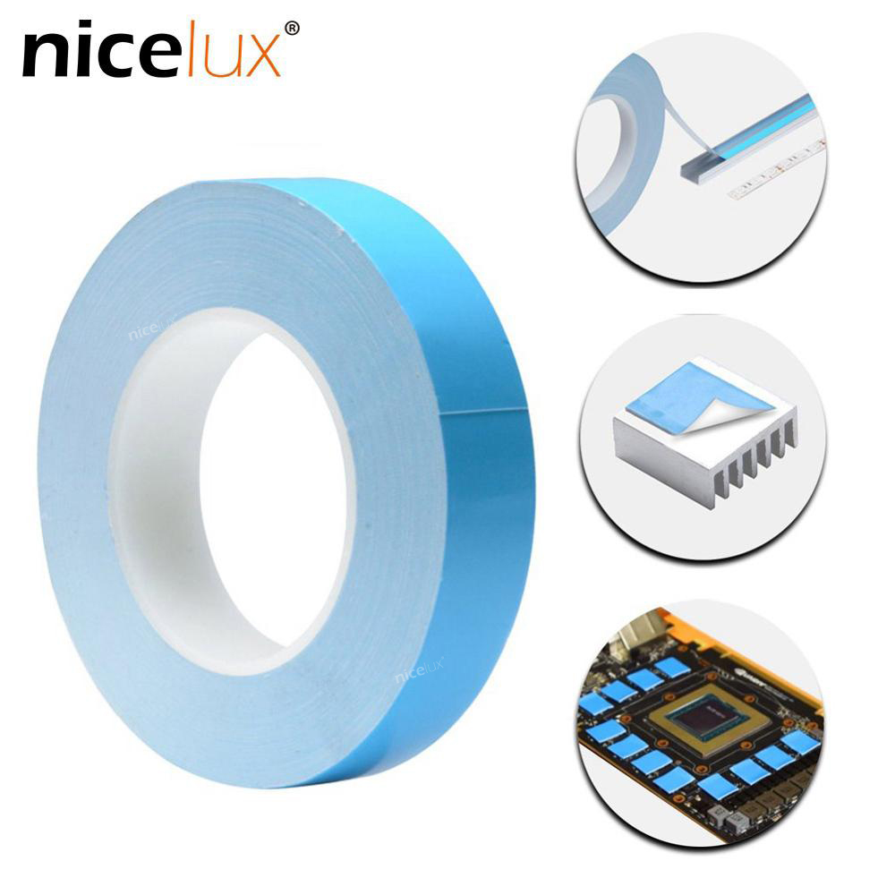 25meter/Roll 8mm 10mm 12mm 20mm Width Transfer Tape Double Side Thermal Conductive Adhesive Tape for Chip PCB LED Strip Heatsink