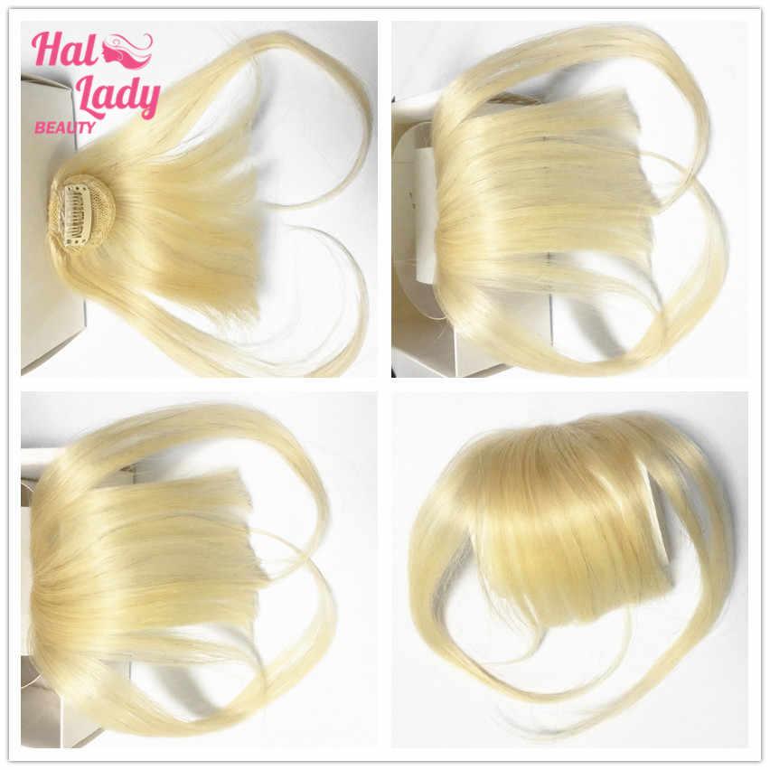 Halo Lady Beauty Clip In Air Pony 613 Blonde Menselijk Haar Platte Pony Pony Onzichtbare Braziliaanse Haarstukken Non-Remy vervanging