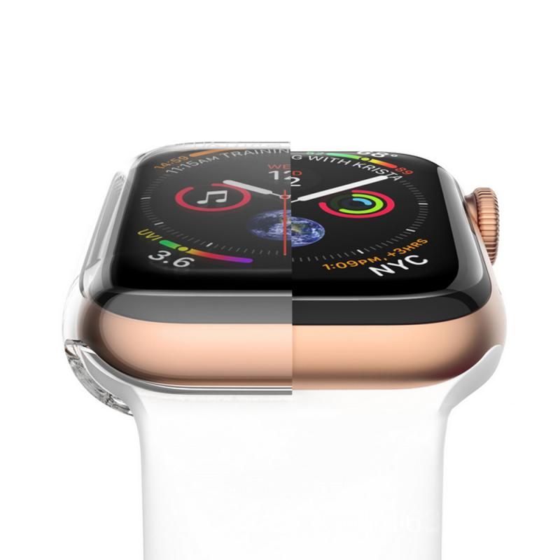 """38 מגן TPU Case עבור Apple Watch2 / 3/4 Anti-Drop ארה""""ב להגנת מעטפת מלאה Cover Case 38/40/42 / 44mm מגן אופציונלי (2)"""