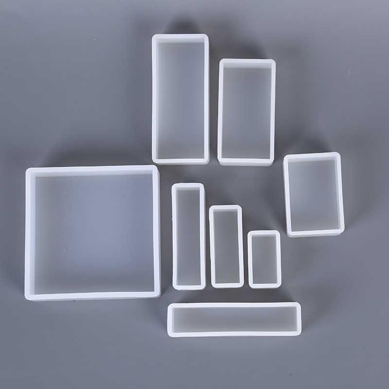 長方形半透明のためのジュエリー作成ツール金型 UV エポキシ樹脂装飾クラフト