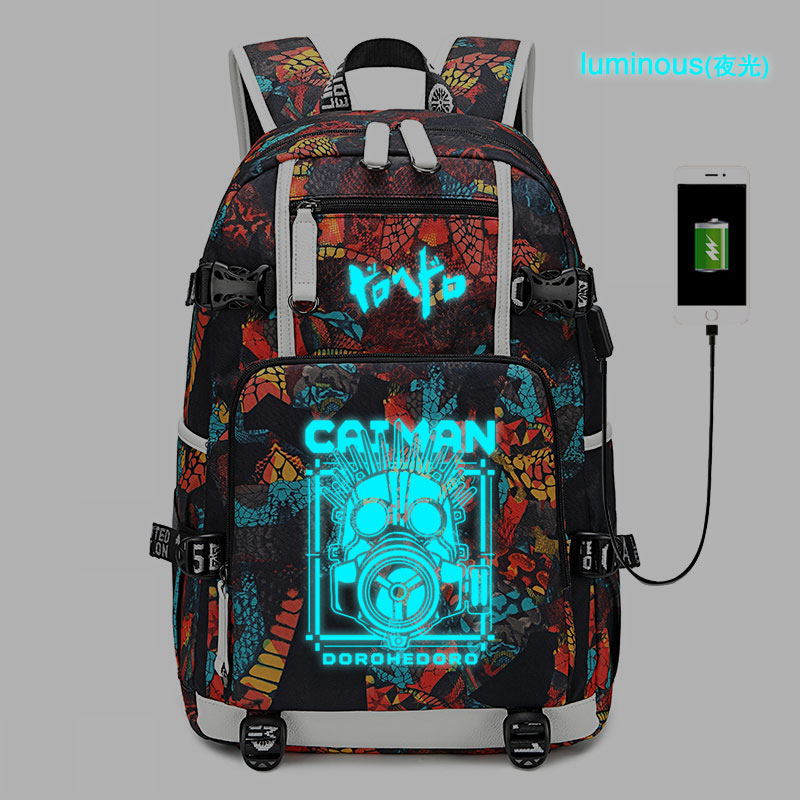 New Anime Dorohedoro Schoolbag Laptop Bag Men Travel Bags USB Oxford Backpack