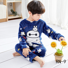 Winter 2019 Warm Children Pajamas Sets Girls Long Sleeve Sleepwear Casual Flannel Pyjamas Set Christmas Gift for 3-14yrs Kids