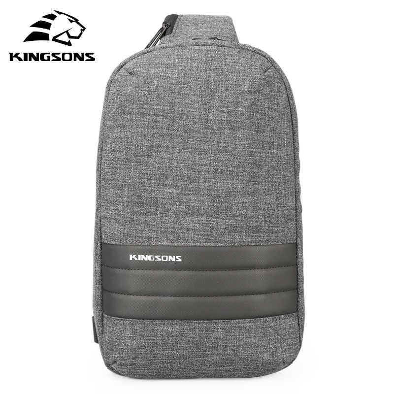 Kingsons Männer Brust Tasche Einzelnen Schulter Zurück pack männer Umhängetaschen Casual Messenger Kleine Tasche Für Reise