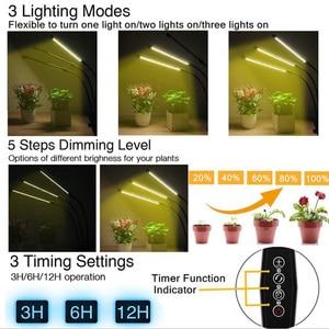 Image 4 - Timer USB 3/4 testa LED Coltiva La Luce Phyto lampada indoor Grow tenda growbox Cultivo giallo Clip di luce del sole Pianta Spettro Completo veg lampada