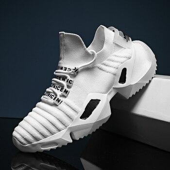 Sock Shoes Men Summer Sneakers Men Breathable Shoes For Men Fashion Sports  Lace Up  Casual No-slip Men Vulcanized Shoes