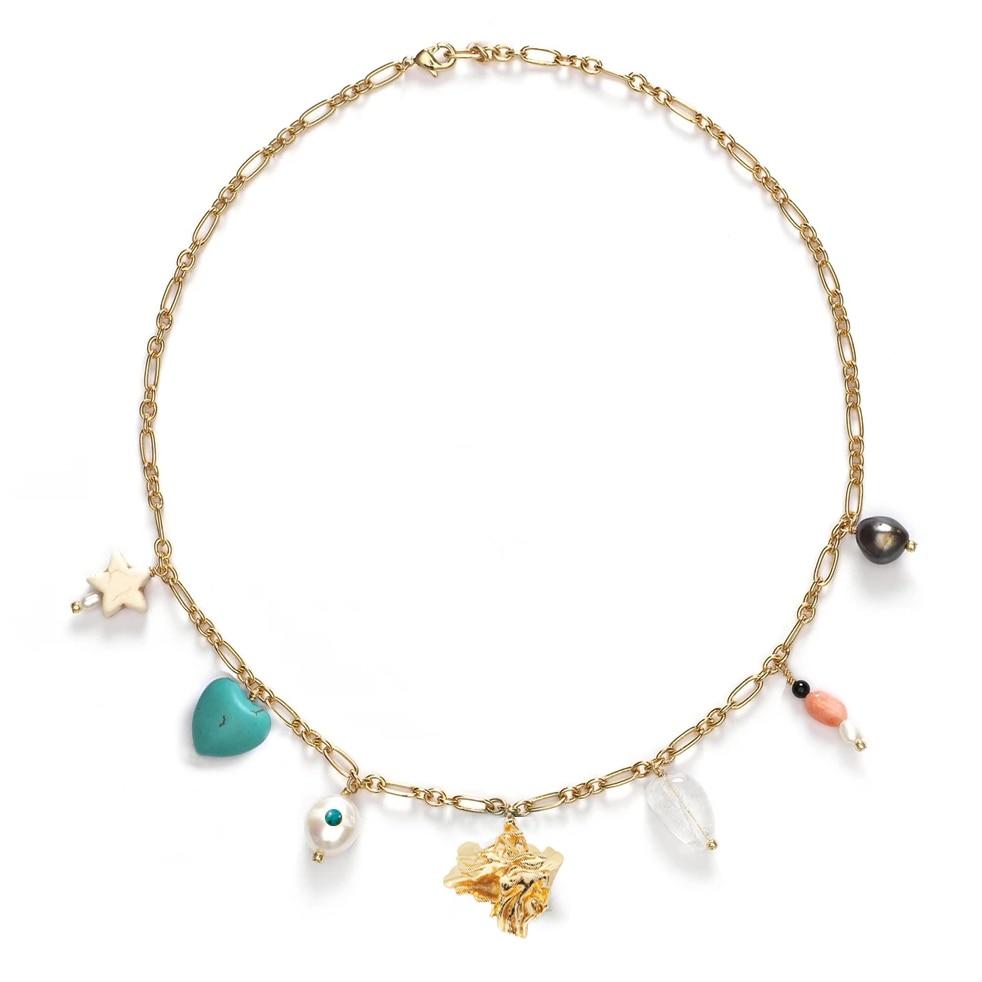 Стимпанк bijoux vsco девушка colar сердце кулон ожерелья ketting chocker колье colares femme пресноводный жемчуг женские ожерелья Колье      АлиЭкспресс