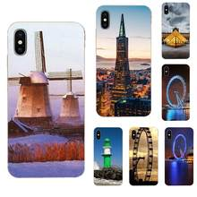 For Huawei P7 P8 P9 P10 P20 P30 Lite Mini Plus Pro Y9 Prime P Smart Z 2018 2019 TPU Quinn Phone Bumper Retro Building Wheel(China)
