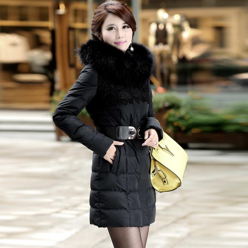 Winter Coat Women Clothes 2020 Korean Thick Warm 90% Duck Down Jacket Real Raccoon Fur Coat Ladies Long Jacket Hood S1505