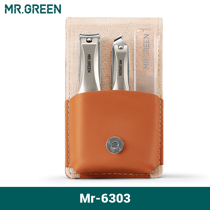 MR.GREEN Manicure Set Surgical Grade Scissors Stainless Nail Clippers Tool Pedicure Set Home Portable Travel Kit Nail Scissor 7