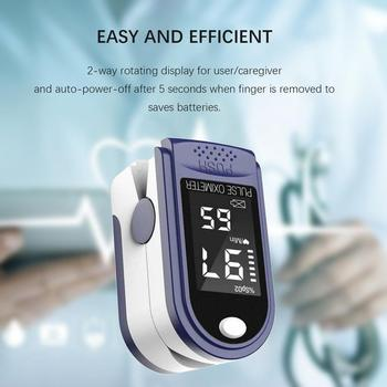 OLED Finger Clip Pulse Oximeter PR Fingertip Blood Oxygen Saturation Meter Low Voltage SPO2 Heart Rate Monitor With Box Lanyard image