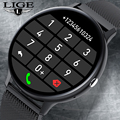 LIGE 2021 New Smart Bluetooth Call Watch Men Women Heart Rate Sports fitness tracker Watch Man for Android IOS Xiaomi Huawei+Box