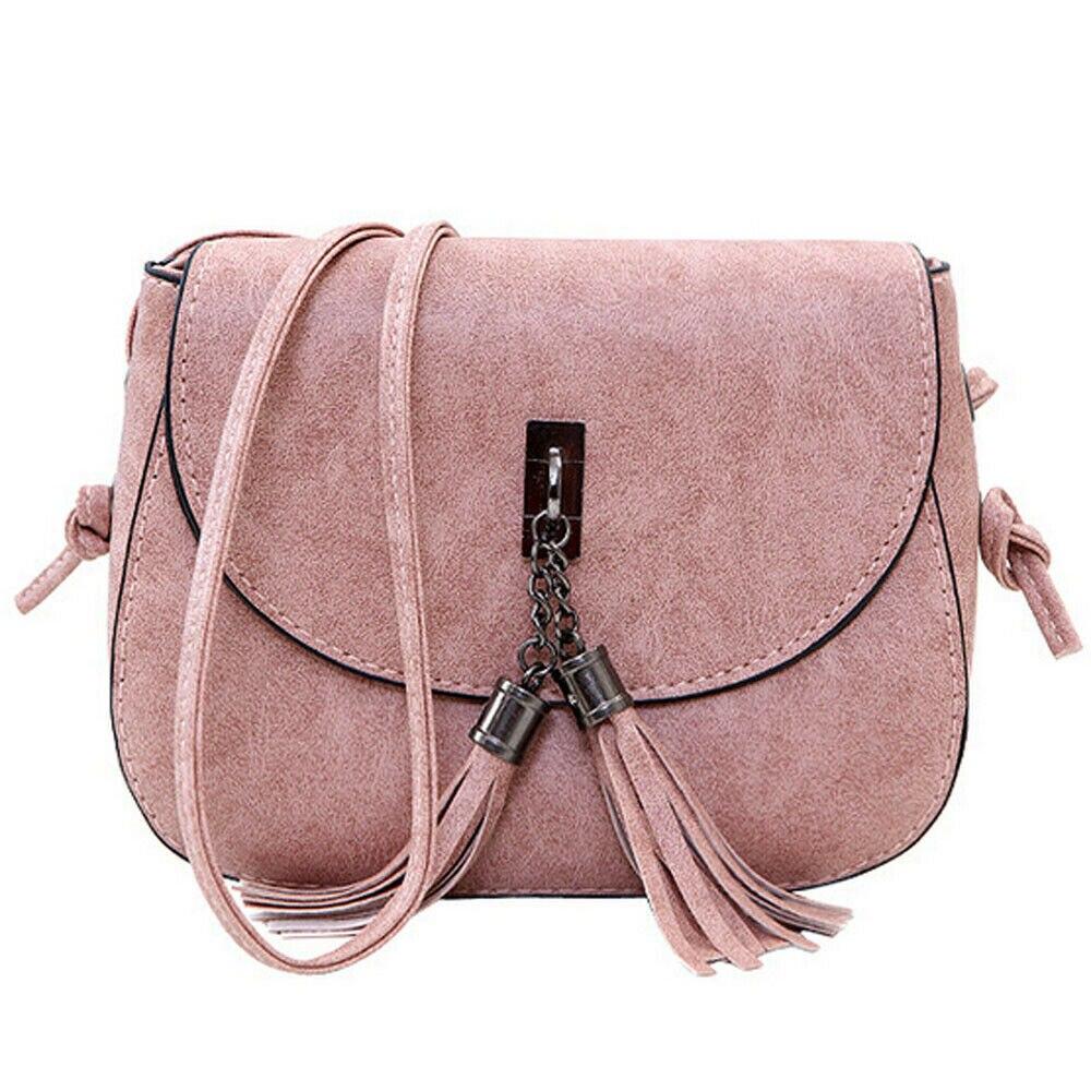 Luxury Vintage Fashion Women Small Handbag Mini Messenger Bag Women's Handbag Tassel Flap Bag Leather
