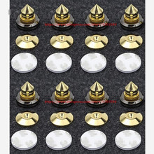 8 set Mini Portable Audio Speaker Spikes Speakers Repair Parts DIY Speaker Stand Shock Pin Nails And Pads Accessories