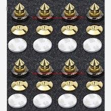 8 set Mini taşınabilir ses hoparlör sivri hoparlörler onarım parçaları DIY hoparlör standı şok Pin çivi ve pedleri aksesuarları