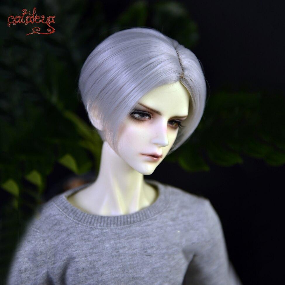 Cataleya bjd sd boneca peruca 1/3 1/4 1/6 1/8 fibra de alta temperatura metade cabeça cabelo curto masculino deus