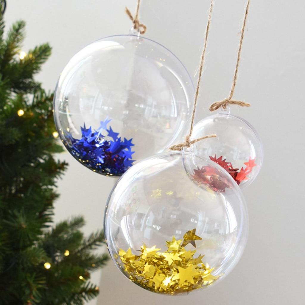 Seasonal Decorations 5-50x Clear Plastic Bauble Ball Star ...