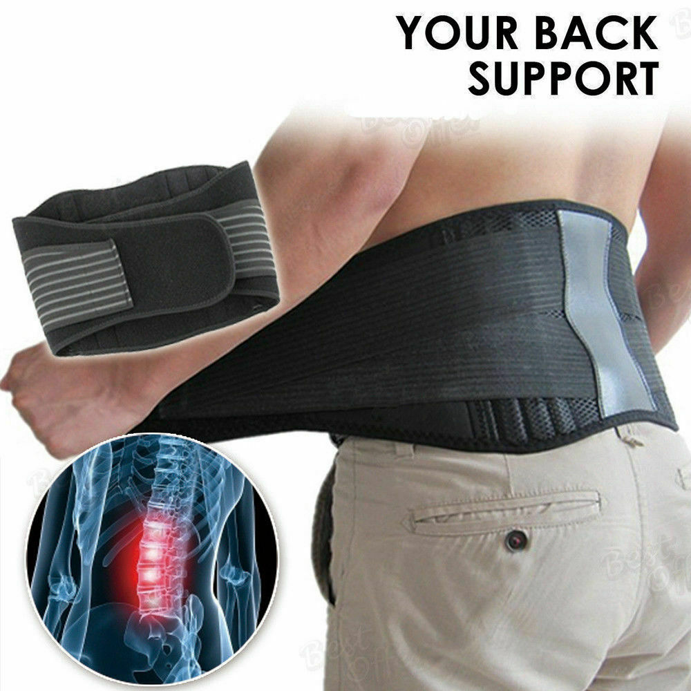 Magnetic Back Support Cummerbunds Brace Belt Lumbar Lower Waist Double Adjust Pain Relief