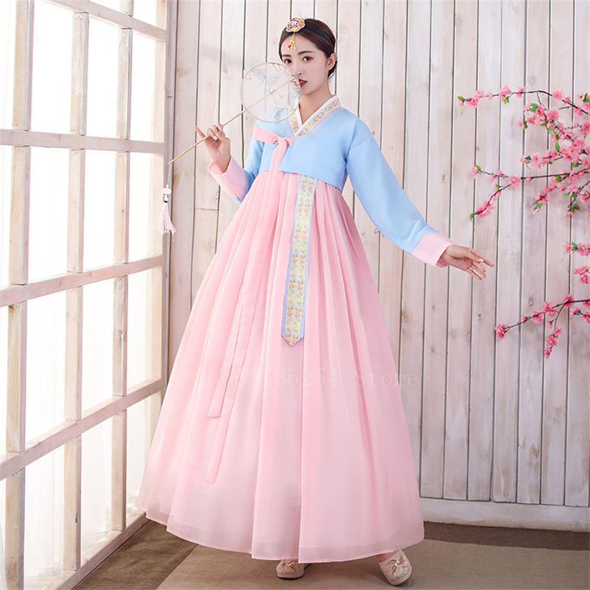 Retro Woman Korean Traditional Hanbok Dress Elegant Princess Party Wedding Dress Ancient Minority Folk Dance Stage Costume Hot Deal E3c8 Cicig