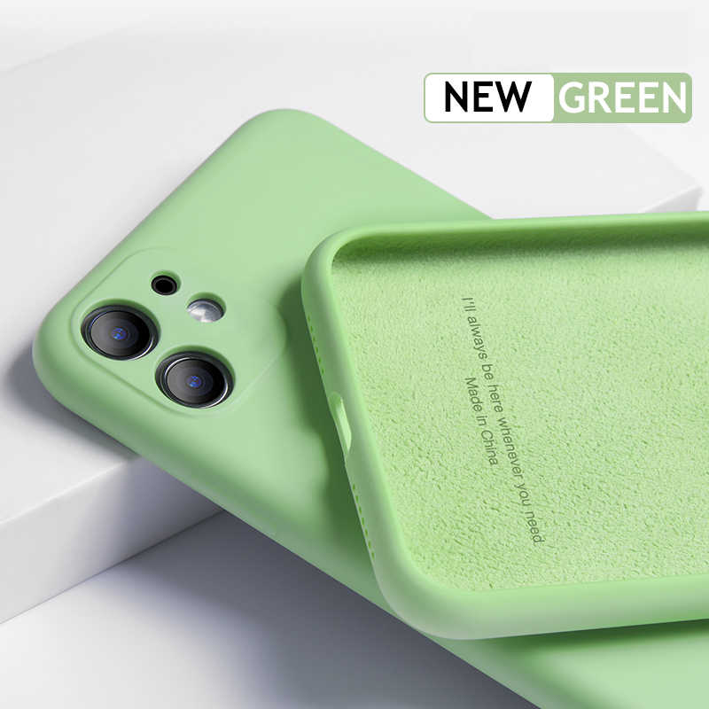Luxury Liquid Silicone Case on For iPhone 11 Pro Max XS Max XR X 10 7 8 6 6S Plus Cover Soft Back Camera Protection Case