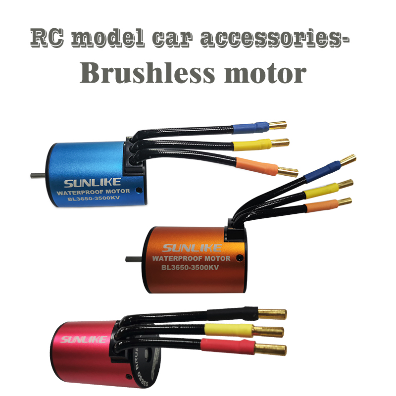 RC Car 1:10 Parts SL3650 Waterproof 3100KV 3500KV 3900KV 4300KV Brushless  Motor  RC Car  Boat Model Toy Motor 45A 60A ESC 2~3S
