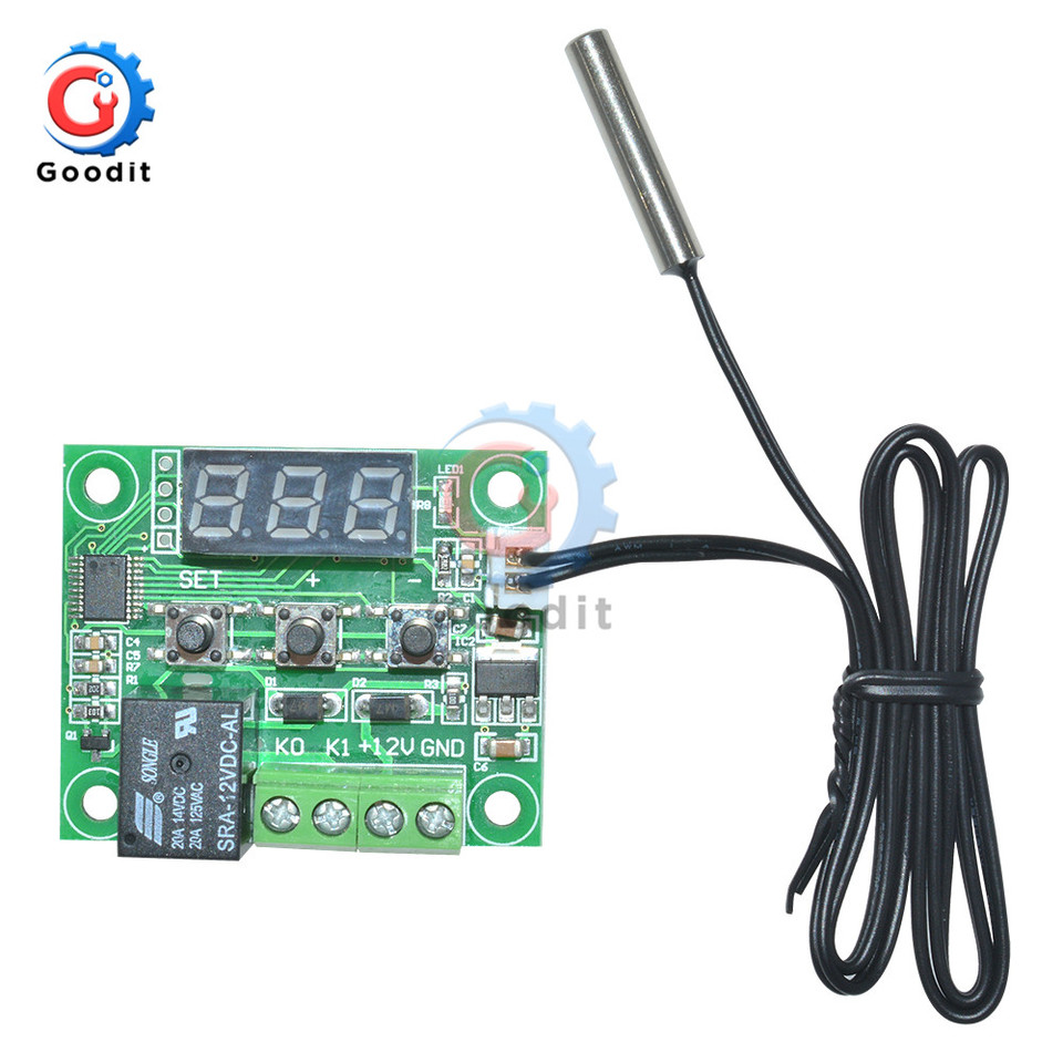 Digital 12V W1209 Thermostat Temperature Controller Switch Sensor 50-110°C Case