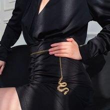 2020 moda kobiety złoty i srebrny łańcuszek pas grzywny spodnie łańcuch pas Hip Hop geometryczny smok talia łańcuch pas kobiety mężczyźni pasy