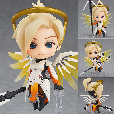 Very Hot and Cool Q Version Overwatch OW Angel Angela Classic Skin PVC Boxed Model Figure Toy for Friends or Children