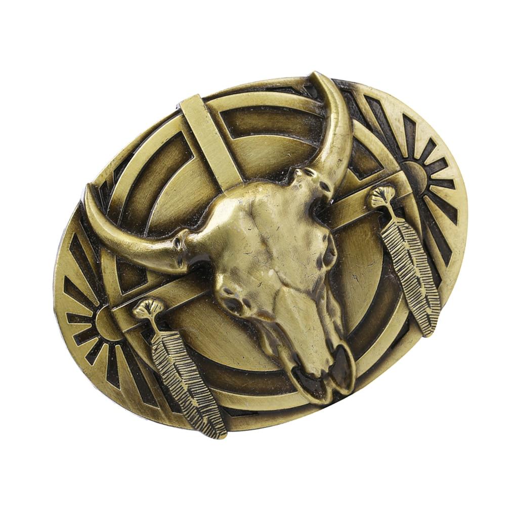 Western Cowboy Belt Buckle Engraved Jeans Belt Buckle Rodeo Jeans Ornament