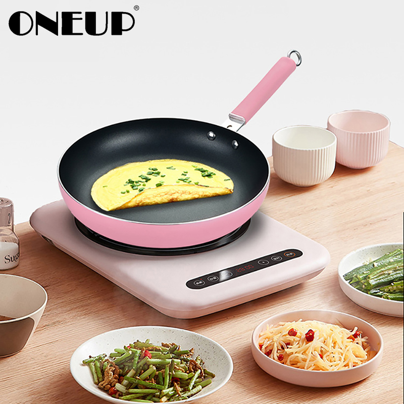 ONEUP 24/26/28/30cm Non-Stick Healthy Frying Pan No Oil Smoke PotGas Stove Cookware General Grill Smokeless Kitchen Cooking Pan