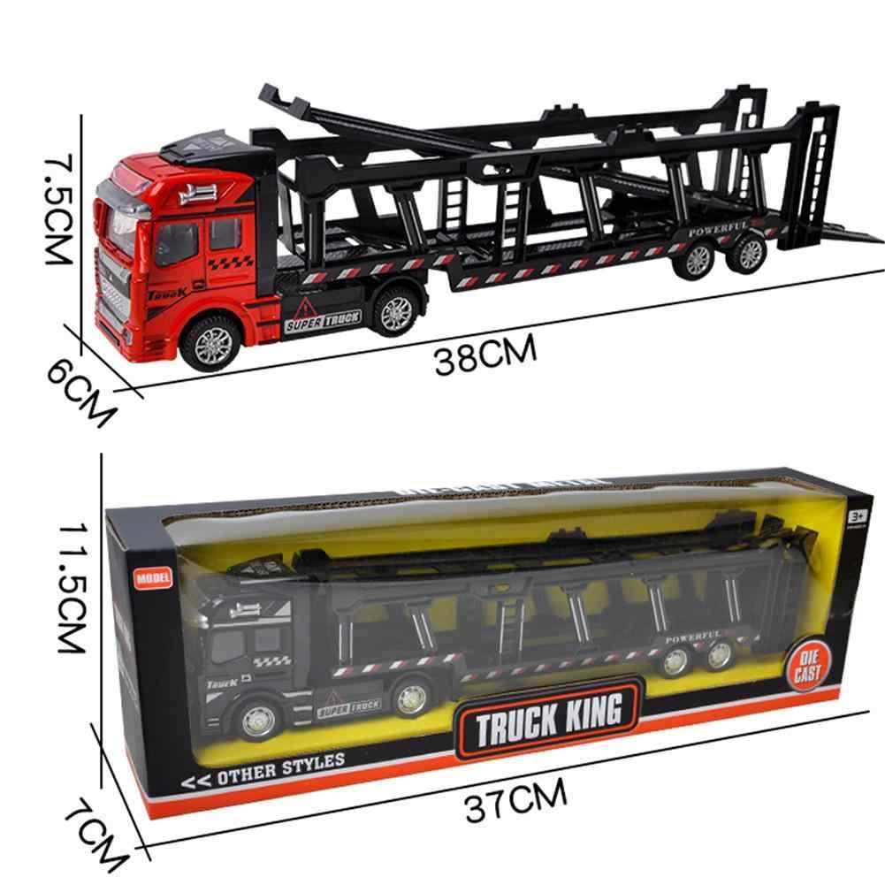 1:48 Tarik Kembali Model Mobil Paduan Truk Mainan untuk Anak Laki-laki Anak-anak Simulasi Truk Transportasi Kendaraan Mainan Bayi Hadiah Ulang Tahun Anak-anak