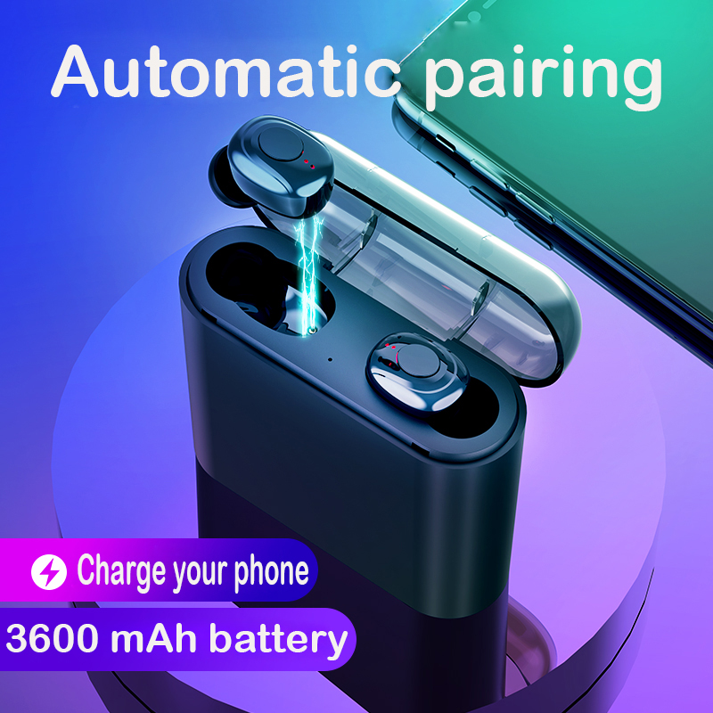 X18 <font><b>Bluetooth</b></font> <font><b>5.0</b></font> Wireless Earphones Mini Earbuds Charging 8D Stereo Sound Headphones for Iphone Xiaomi Huawei Oppo <font><b>Smartphone</b></font> image