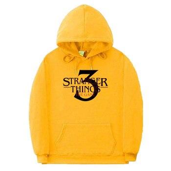 off white Hoodie Stranger Things Hooded Sweatshirts Women/Men Casual Stranger Things Season 3Letter Print Pullover Hip Hop Hoody