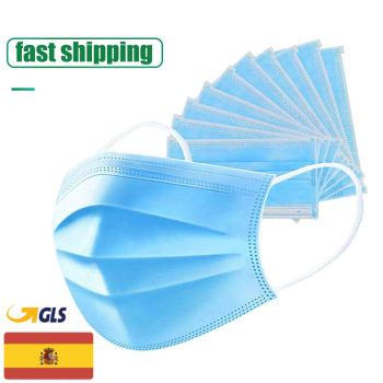 Non Woven Disposable Face Mask 3 Layer Hanging ear Safety Elastic Facial Safety Masks
