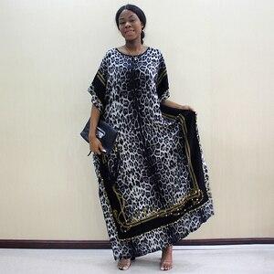 Image 5 - 2019 mode Dashiki Afrikanische Kleider Für Frauen Leopard Print Baumwolle Dashiki Casual Kleider