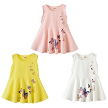 New Hot Cute Baby Girls Dress Summer Cartoon  Princess 2-7 years