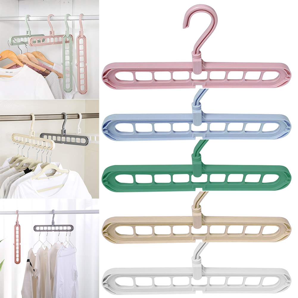 Multi-port Support Circle Clothes Hanger Rotate Anti-skid Folding Hanger Portable Hanging For Home Wet Dry Clothes Storage Hange