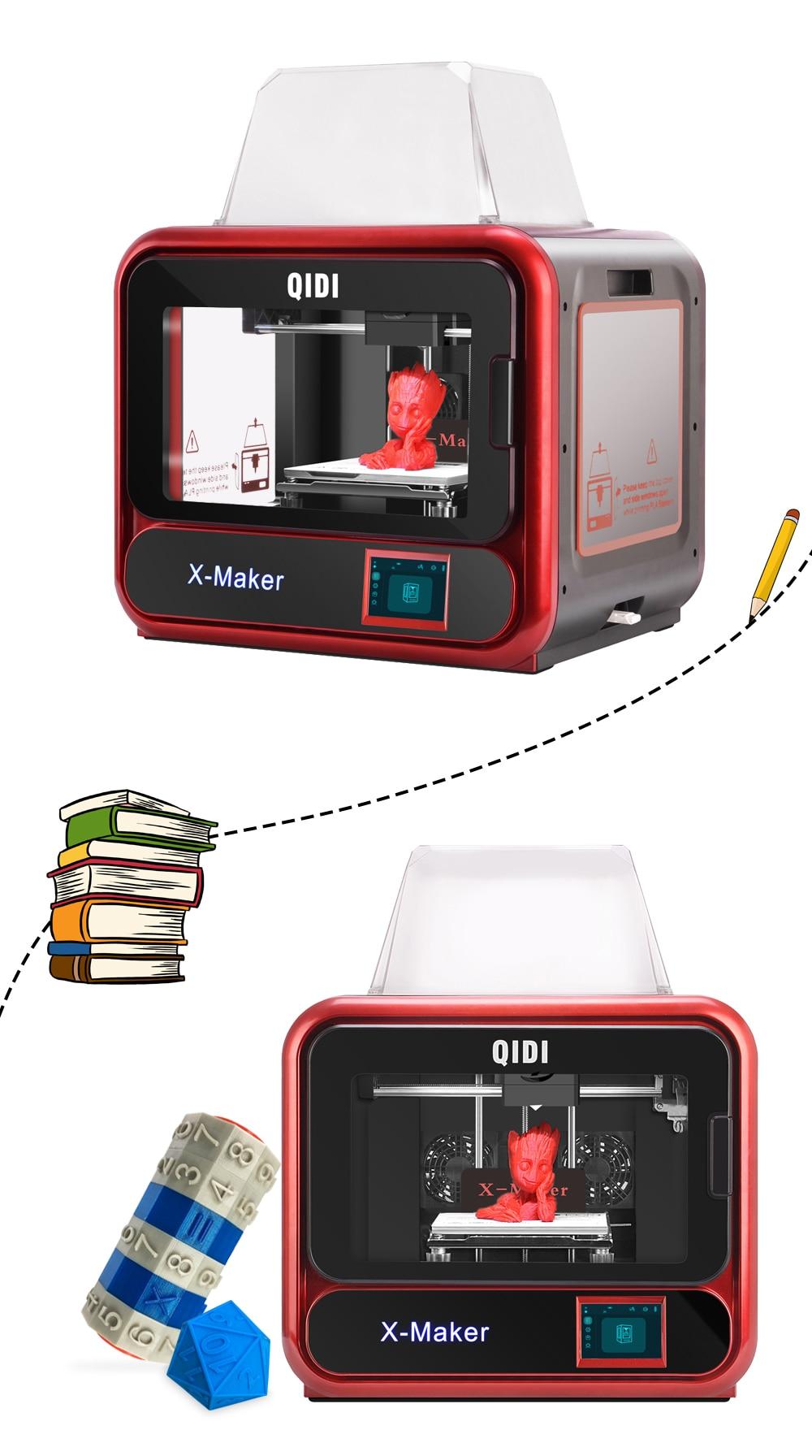 QIDI TECH X-Maker 3D Printer with Camera Wifi Touch Screen Single Nozzle Printing 8