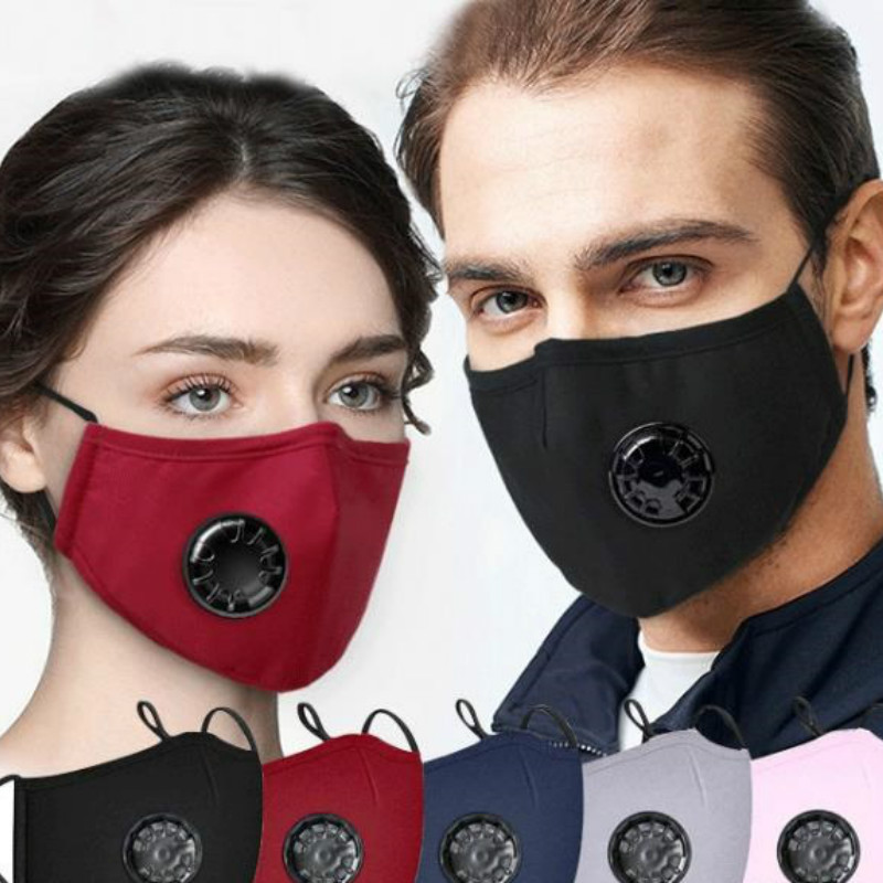 Face Mask Respirator Washable Reusable Mouth Masks + 1Pcs Activated Carbon Filter PM2.5 For Men/Women
