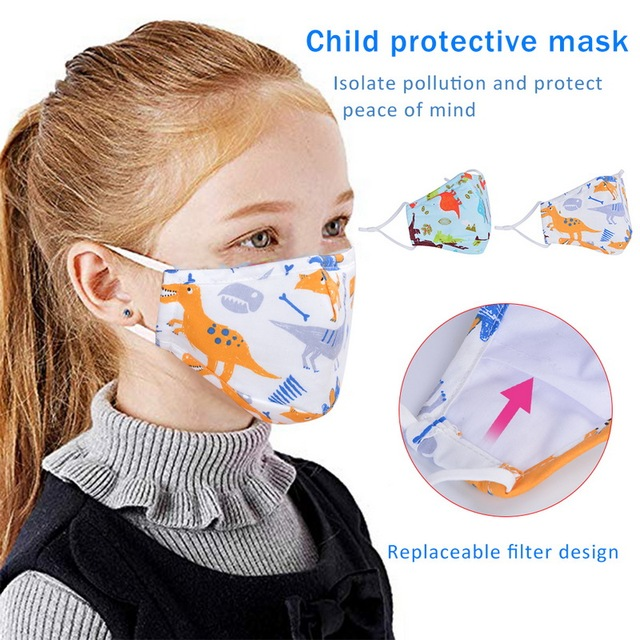 5PCS PM2.5 Children Mouth Mask For Kids Cartoon Thicke Masks Warm Mask Facial Covers Mouth Cap 1