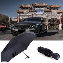 For Mercedes Benz  AMG W210 E63 W202 W205 W207 Fashion Automatic Business Umbrella Car Logo Custom Beauty Folding Rain Parasol