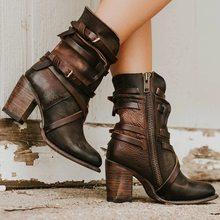 Women Pointed Multi-layer Buckle Back Zipper Shoe