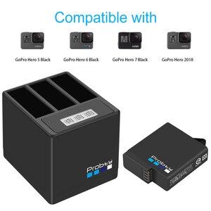 Image 4 - Probty für GoPro Hero 7 hero 6 hero 5 batterie oder 3 kanal LCD USB ladegerät C port für goPro Hero 7, hero 5 Schwarz batterie kamera