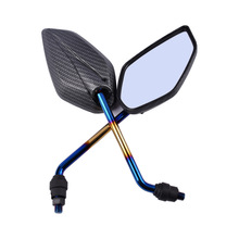 10MM Motorcycle Handlebar Rear View Side Mirror Rearview Mirrors Universal For Honda/Kawasaki/Yamaha/Suzuki/KTM Black for handlebar grips rearview side mirror motorcycle mirror for kawasaki suzuki honda yamaha ktm ducati bmw aprilia mv agusta r1