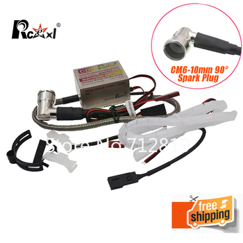 Rcexl Ignition CDI CM6-10mm 90 Degree Spark Plug DA DLE Gas Petrol Engine Rc Airplane for DLE20/DLE30/DLE55/CRRCpro GP26R/GP50R original tested lcd for huawei p9 lite display touch screen with frame for huawei p9 lite 2016 lcd display vns l31 l21 l19