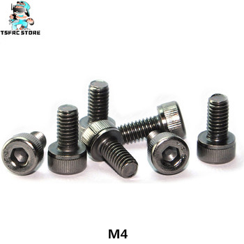 Grade12.9 YFS M4 x6 x8 x10 x12 x14 x16mm hexagon socket head cap screw black nickel plating anti rust corrosion resistant screw image
