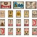 Бельгия leffe duvel Jupiler пивные металлические знаки постеры винтажная настенная живопись пользовательский Декор для паба BB1