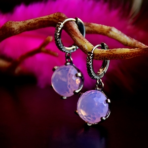 Image 4 - DreamCarnival1989 Hot Selling Football Cut Cubic Zircon Earrings for Women Pink Color Crown Design Prong Dangle Jewelry WE3819PN