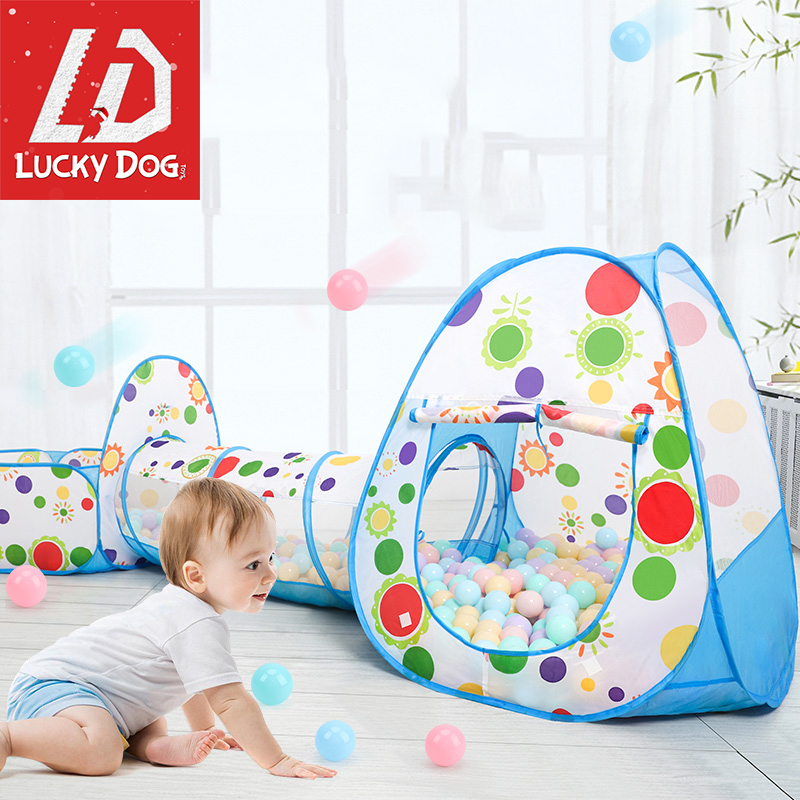 3pcs/Set Ocean Balls Pool Baby Playpen Crawling Tunnel Children Toys Tent House With Basket Outdoor Toys For Children