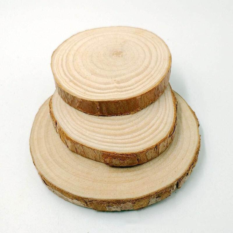 10pcs/lot Plain Wood Embellishment Blank Heart home decor craft DIY creative materials round wood materials Garden decoration