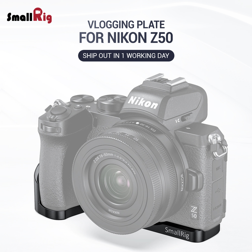 SmallRig Vlogging Mounting Plate For Nikon Z50 Camera Rig With Cold Shoe Mount For  Mic Microphone Or Light 2525